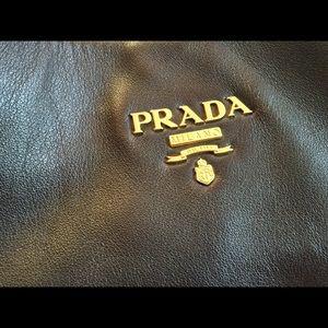 Bags - Prada Tobacco Leather Hobo Bag